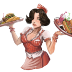 serveuse de restaurant