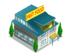 Restaurant Fast food word chef